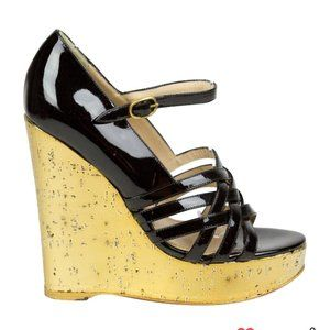 Saint Laurent Wedge Platform Heels 36 Italy